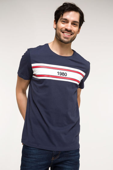 DeFacto Slim Fit Baskılı T-shirt
