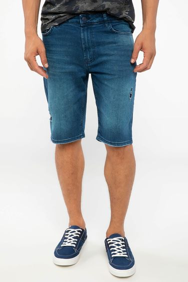 DeFacto Denim Slim Fit Bermuda