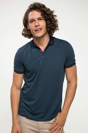 DeFacto Jakarlı Slim Fit Polo T-shirt