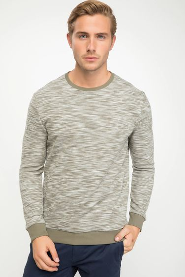 DeFacto Bisiklet Yaka Regular Fit Sweatshirt