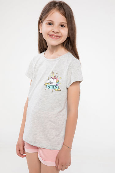 DeFacto Unicorn Baskılı Basic T-shirt