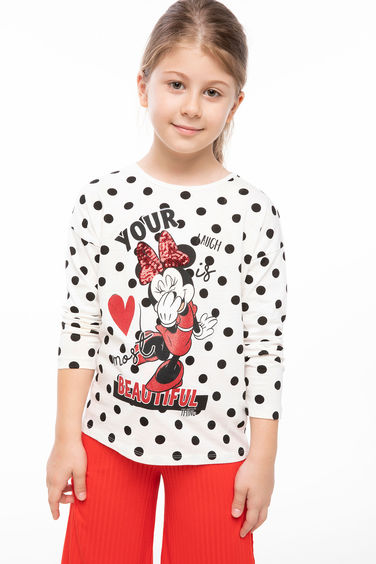 DeFacto Minnie Mouse Lisanslı T-shirt