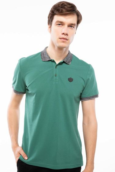 DeFacto Yaka Detaylı Slim Fit Polo T-shirt