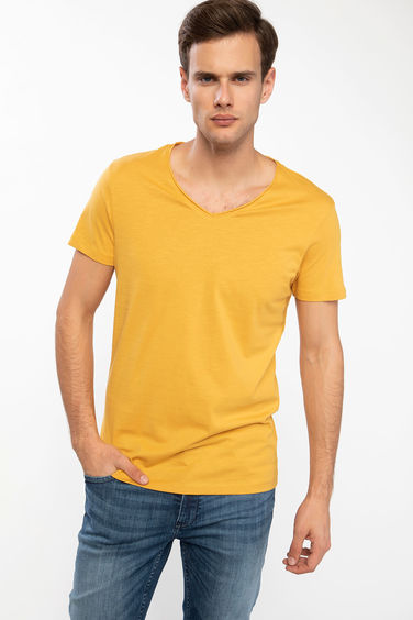 DeFacto Slim Fit V Yaka T-shirt