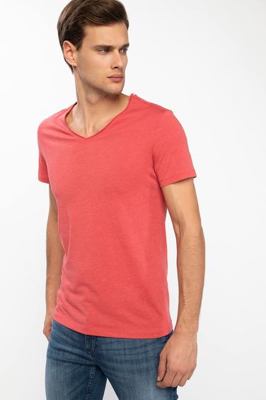 DeFacto V Yaka Slim Fit T-shirt