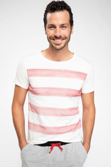 DeFacto Çizgili Slim Fit T-shirt