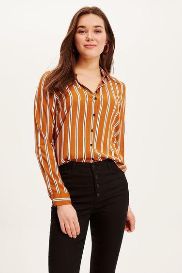 04e8f060233c9b2 женская рубашка в полоску с длинным рукавом