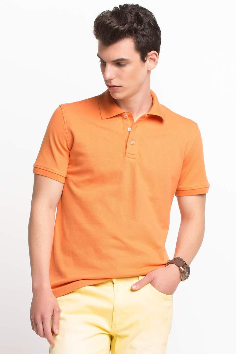 DeFacto Turuncu Basic Polo T-shirt 1