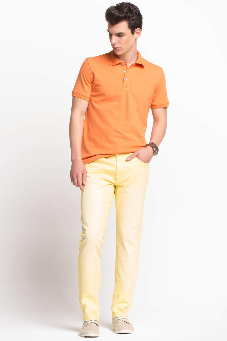 DeFacto Turuncu Basic Polo T-shirt 2
