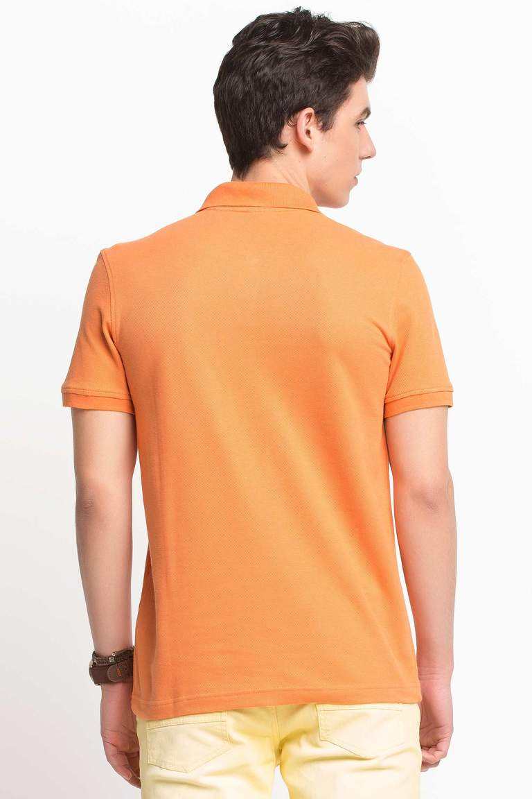 DeFacto Turuncu Basic Polo T-shirt 3
