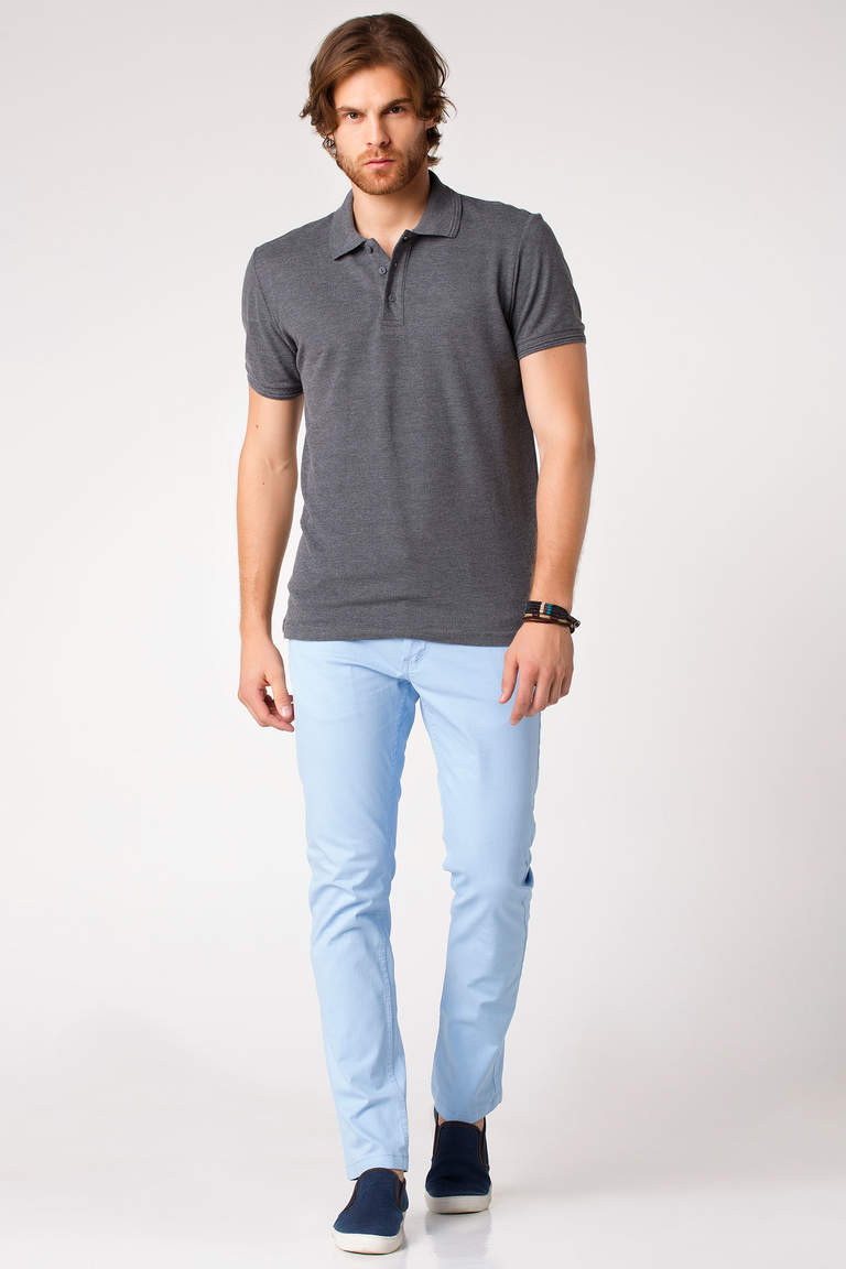 DeFacto Antrasit Basic Polo T-shirt 2