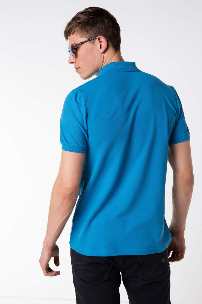 DeFacto Mavi Basic Polo T-shirt 3