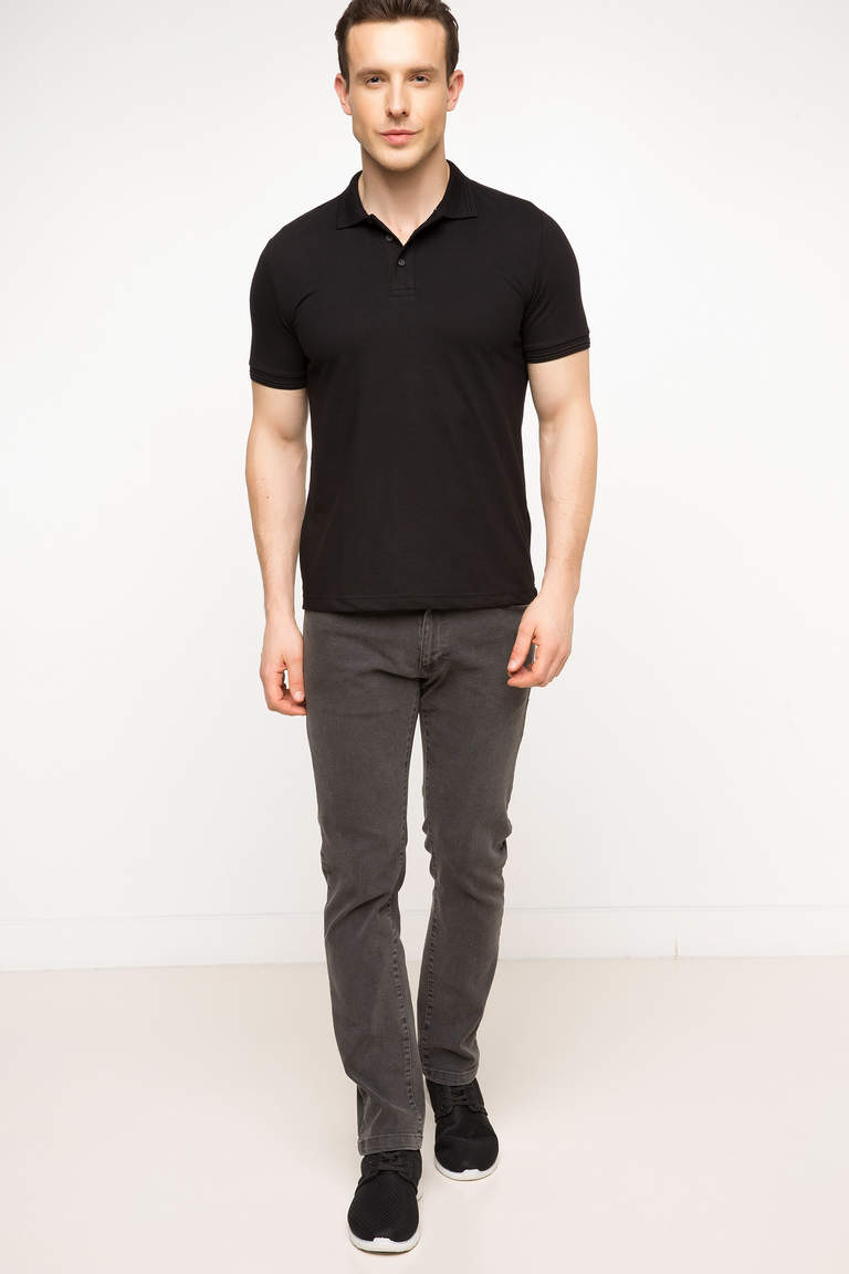 DeFacto Siyah Basic Polo T-shirt 2