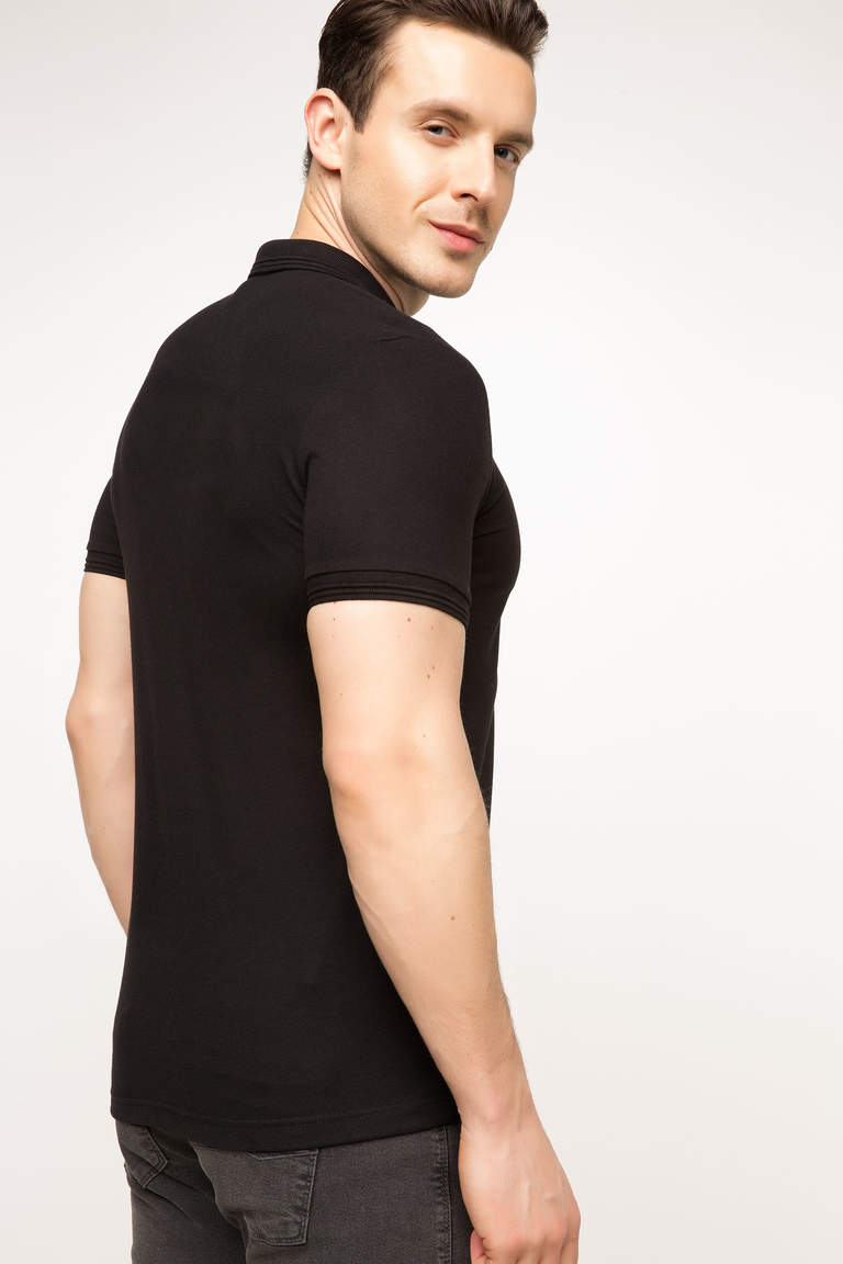 DeFacto Siyah Basic Polo T-shirt 3