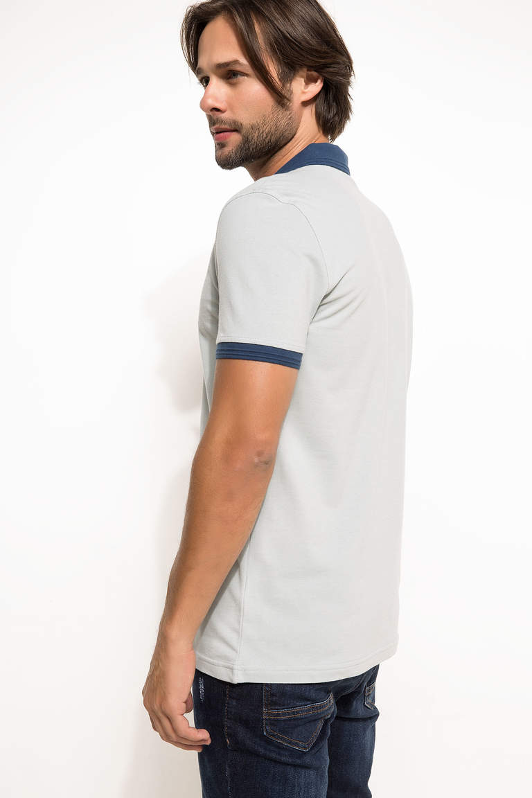 DeFacto Turkuaz Basic Slim Fit Polo T-shirt 3