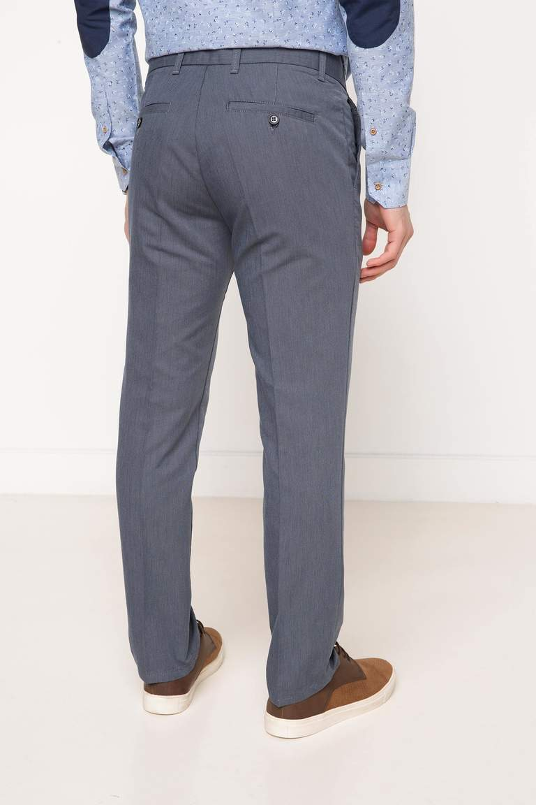 DeFacto Lacivert Erkek Oxford Regular Chino Pantolon 3