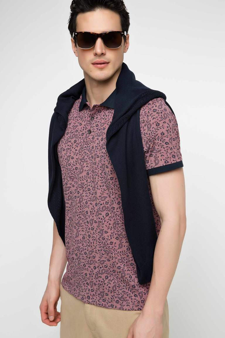 DeFacto Bordo Erkek Slim Fit Polo T-shirt 1