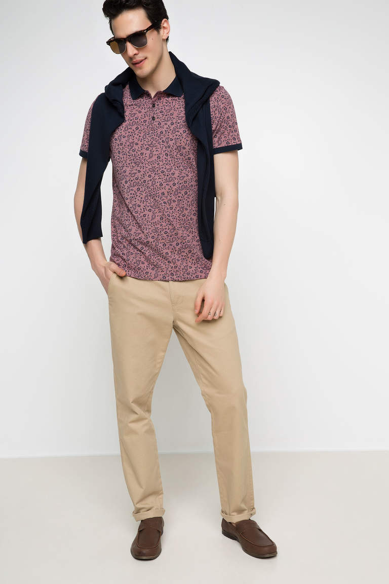 DeFacto Bordo Erkek Slim Fit Polo T-shirt 2