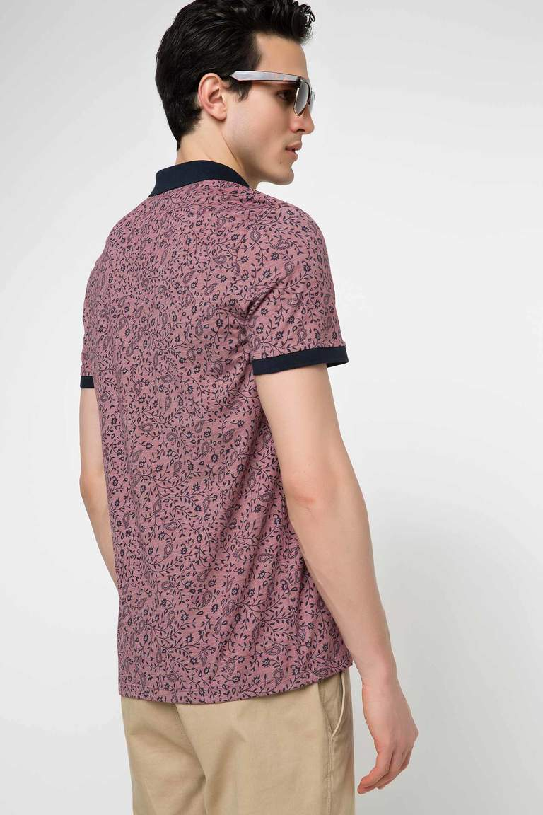 DeFacto Bordo Erkek Slim Fit Polo T-shirt 3