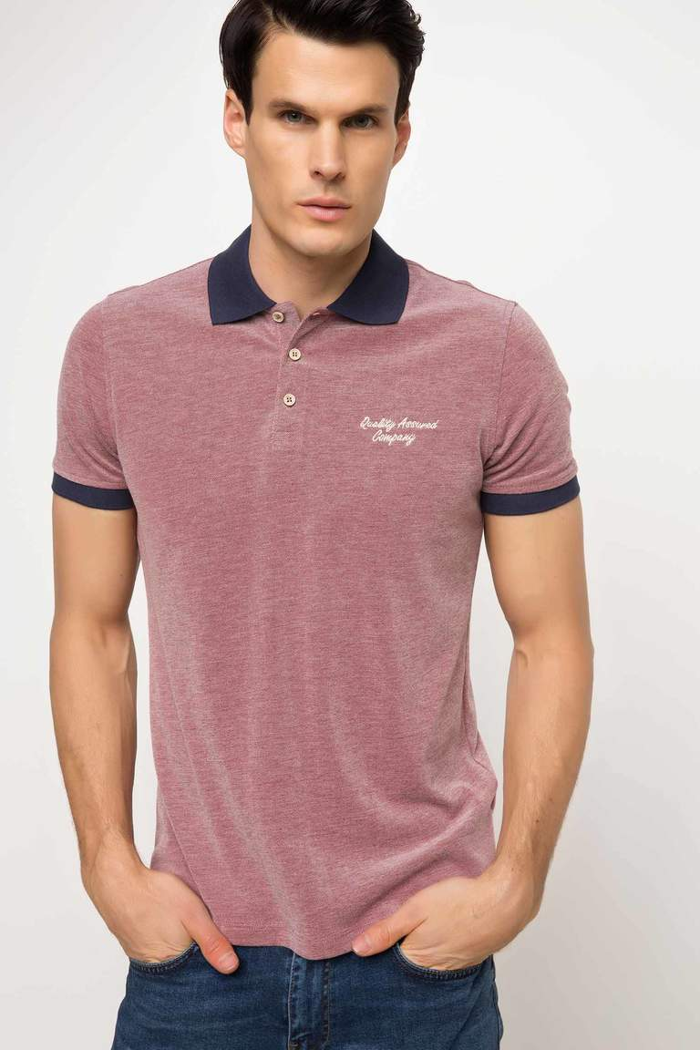 DeFacto Bordo Erkek Pike Polo T-shirt 1