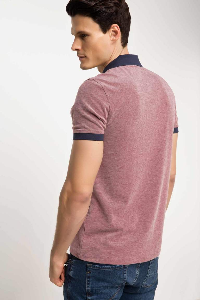 DeFacto Bordo Erkek Pike Polo T-shirt 3