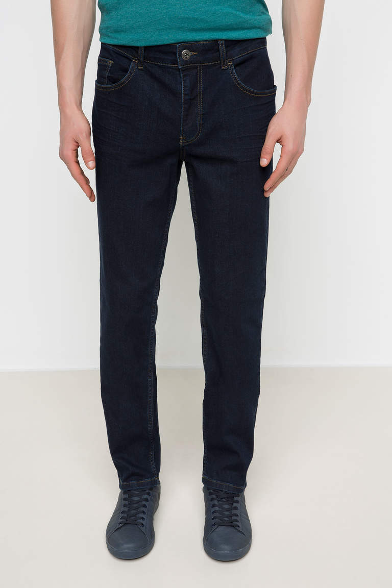 DeFacto Mavi Erkek Leo Regular Fit Denim Pantolon 2