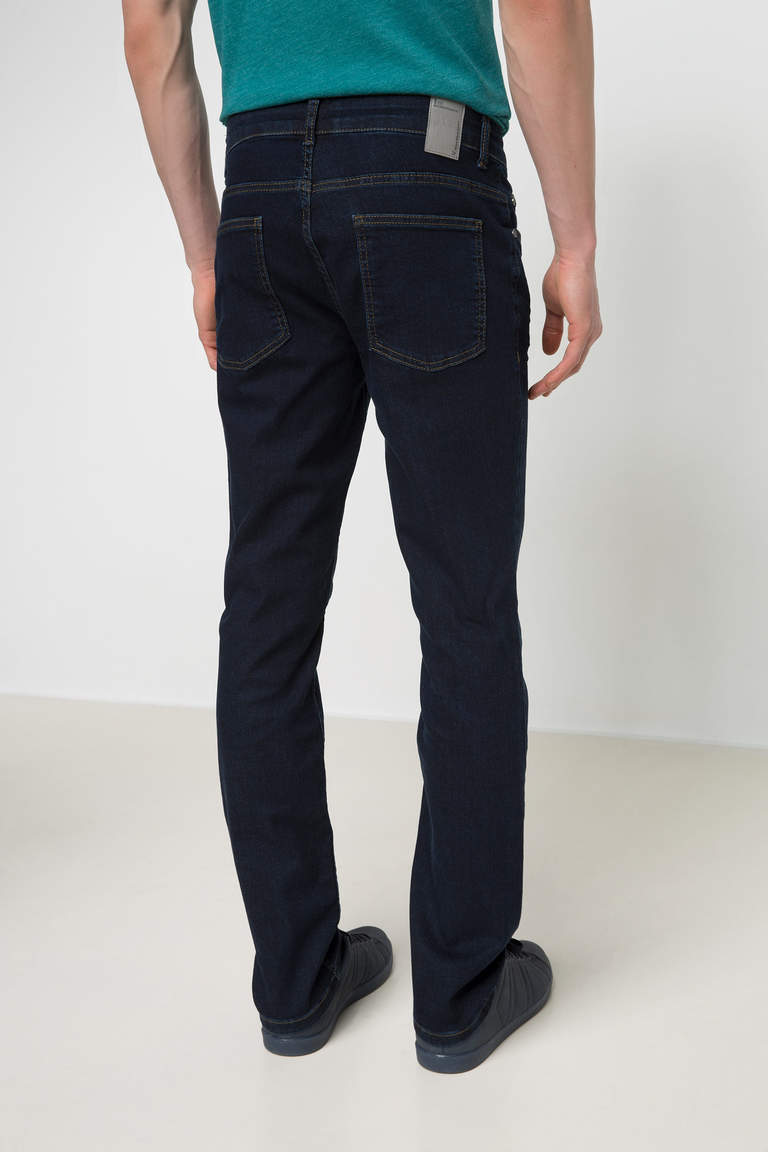 DeFacto Mavi Erkek Leo Regular Fit Denim Pantolon 3
