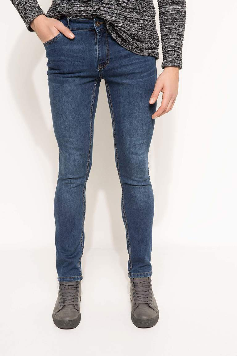 DeFacto Karma 3 Erkek Paco Slim Fit Denim Pantolon 2
