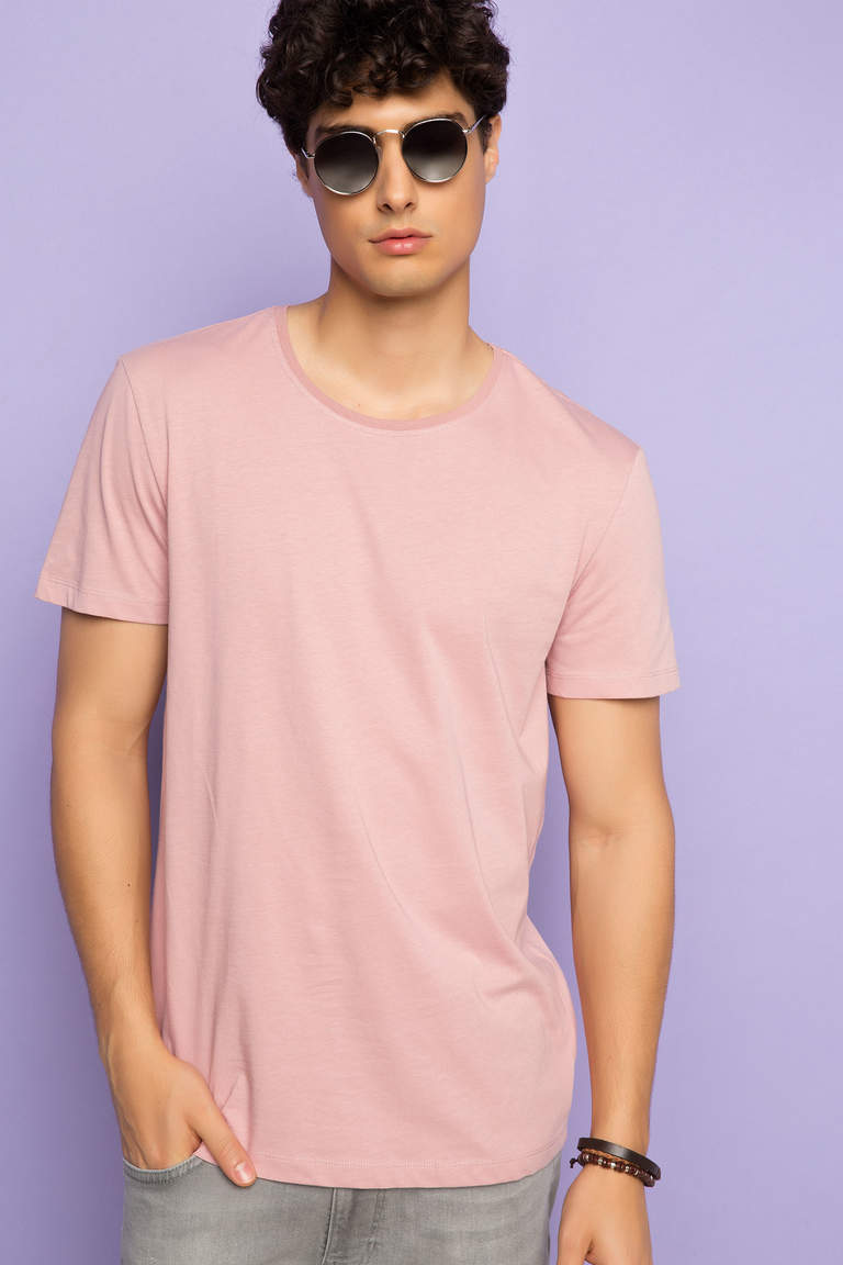 DeFacto Pembe Basic Regular T-shirt 1