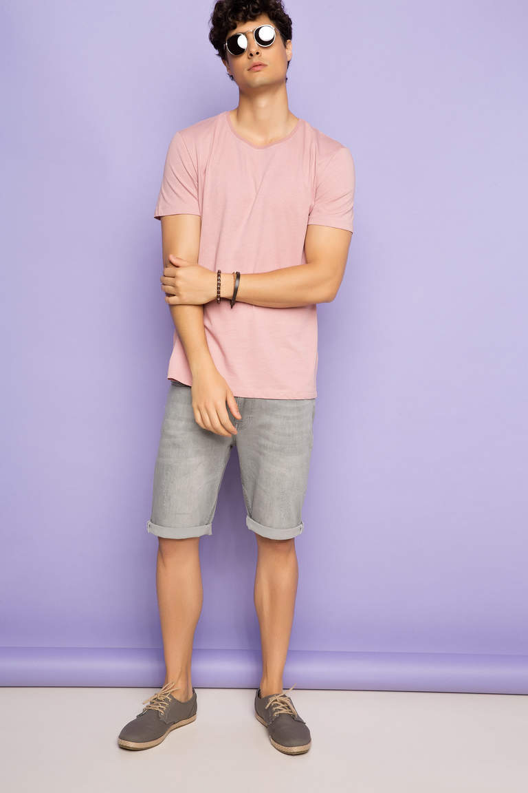 DeFacto Pembe Basic Regular T-shirt 2