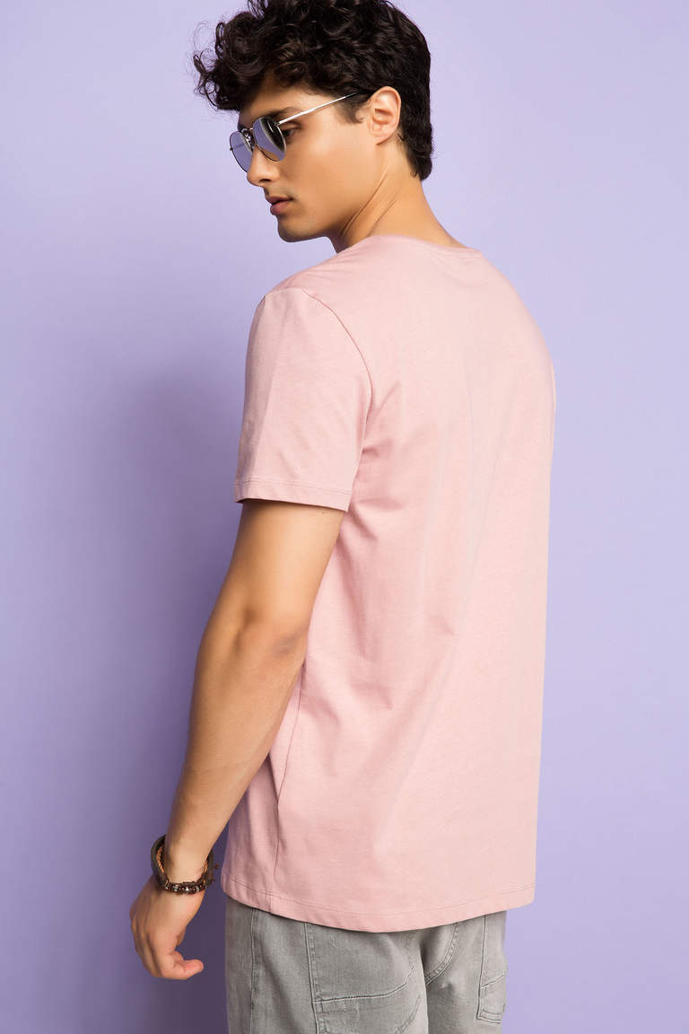 DeFacto Pembe Basic Regular T-shirt 3