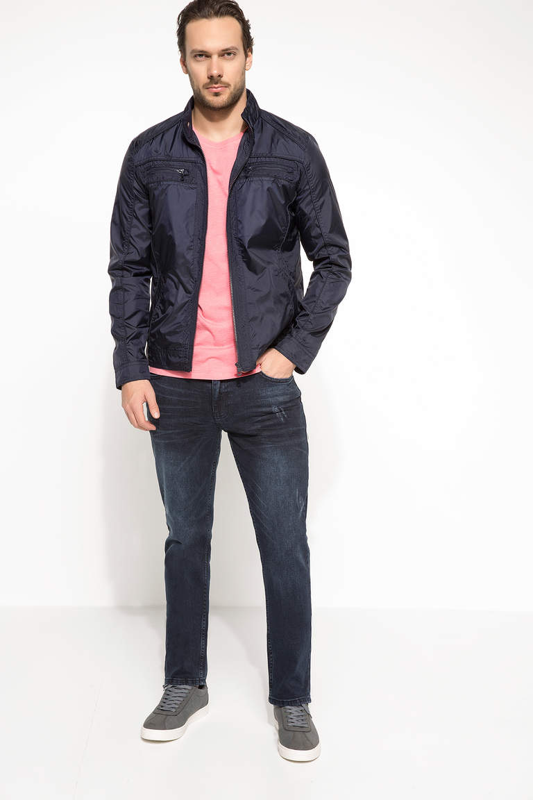DeFacto Mavi Erkek Sergio Regular Fit Denim Pantolon 1