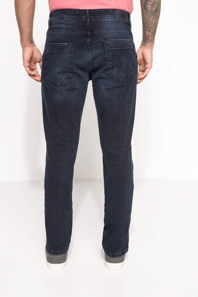 DeFacto Mavi Erkek Sergio Regular Fit Denim Pantolon 3