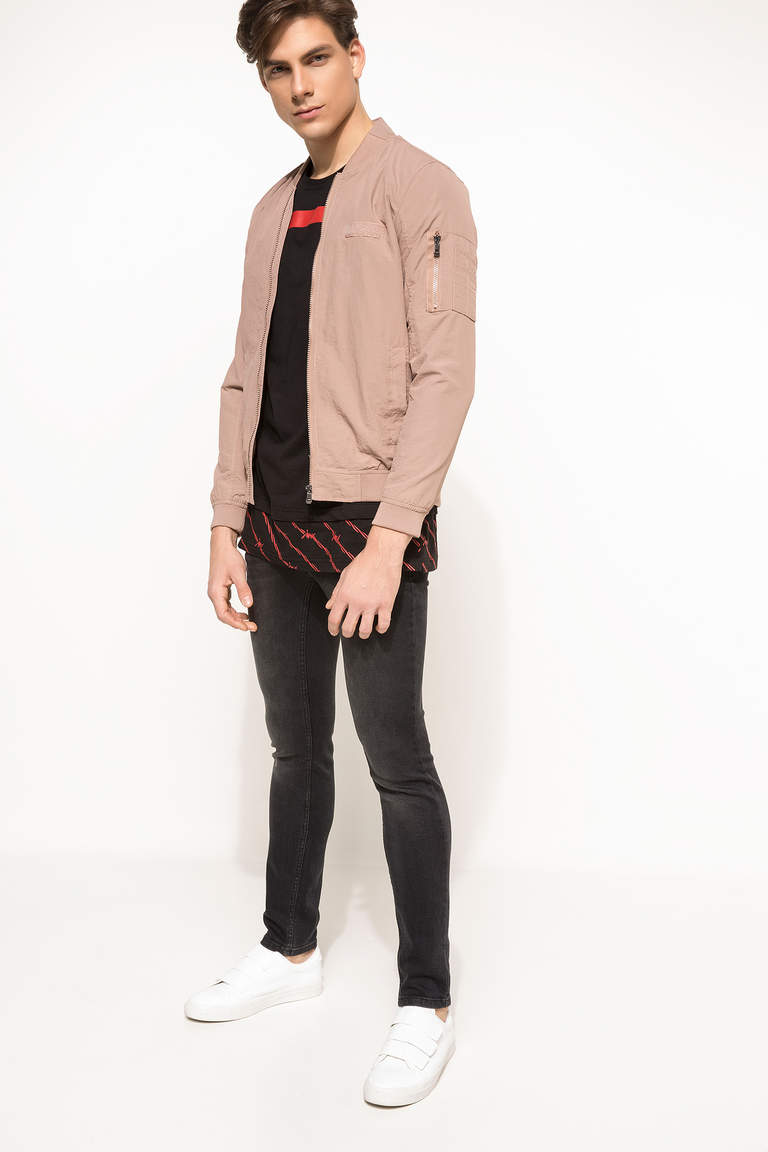 DeFacto Pembe Basic Slim Fit Mont 2