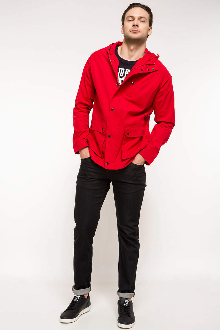 DeFacto Bordo Erkek Slim Fit Mont 4