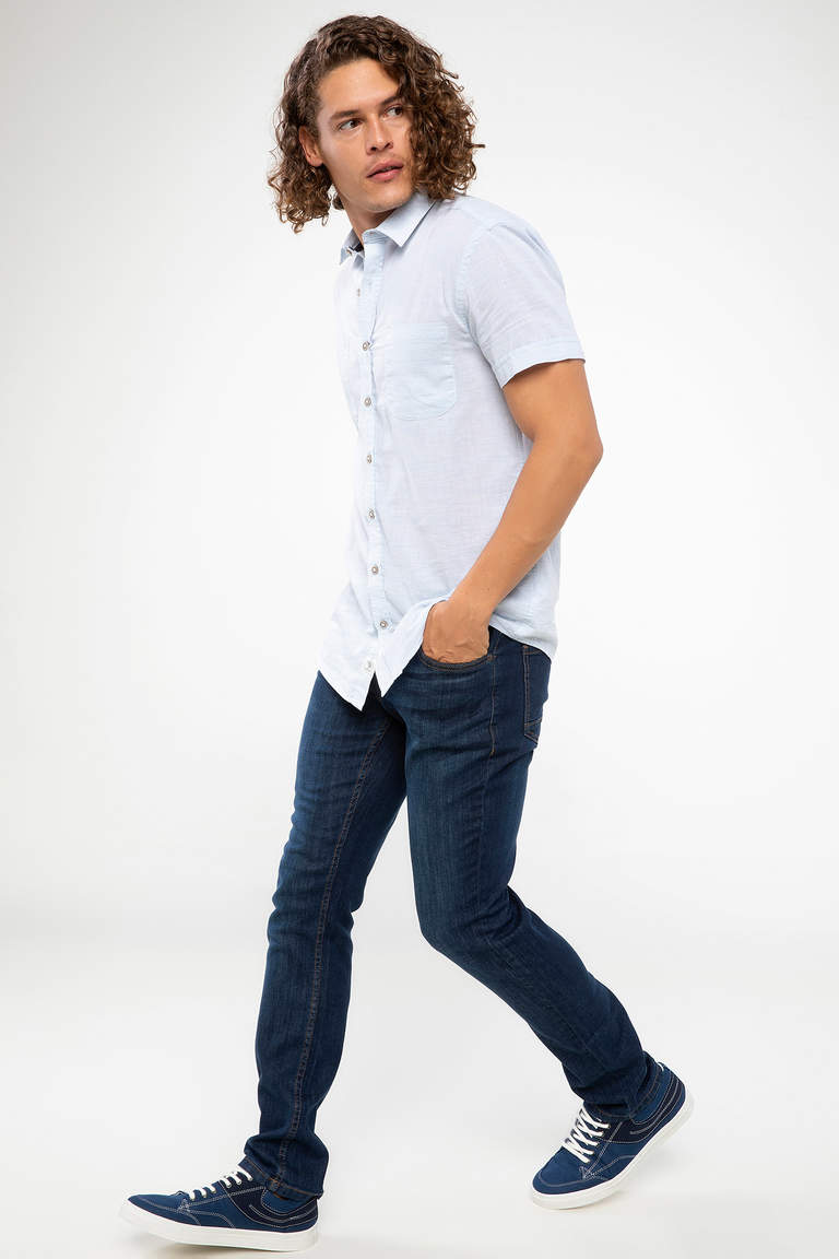 DeFacto Karma 3 Erkek Pedro Slim Fit Denim Pantolon 1