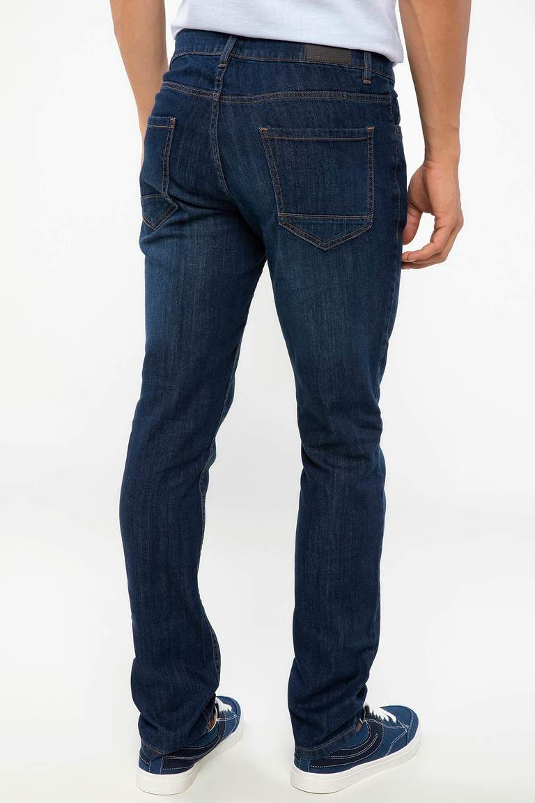 DeFacto Karma 3 Erkek Pedro Slim Fit Denim Pantolon 3