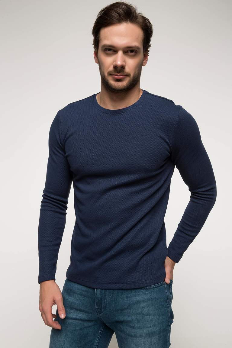 DeFacto Çivit Mavisi Slim Fit Basic Body 1