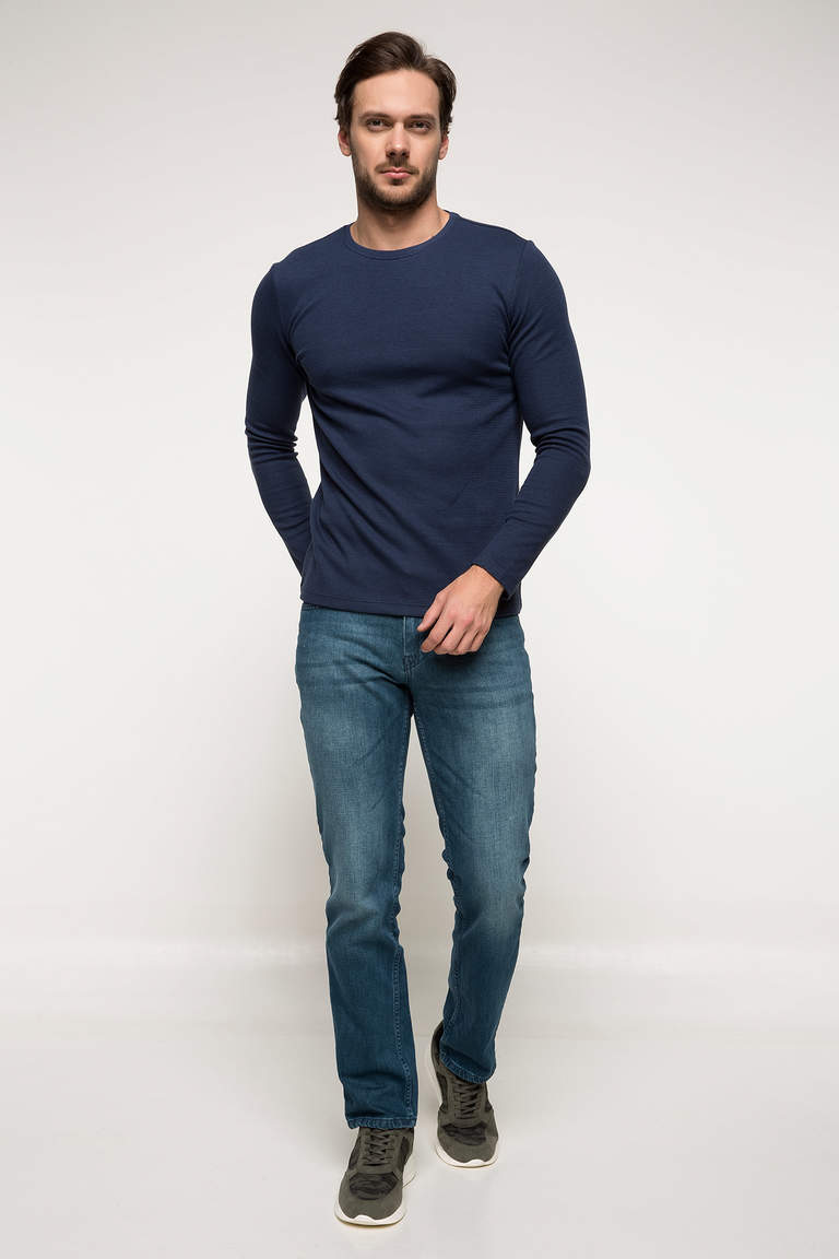 DeFacto Çivit Mavisi Slim Fit Basic Body 2