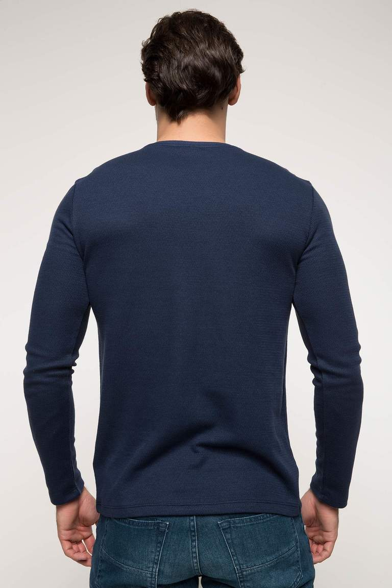 DeFacto Çivit Mavisi Slim Fit Basic Body 3