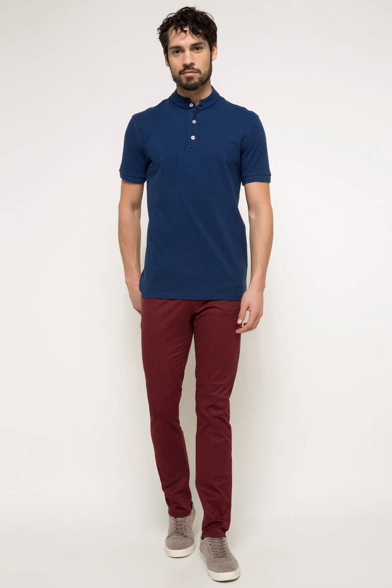 DeFacto Bordo Erkek Bruno Slim Fit Pantolon 1