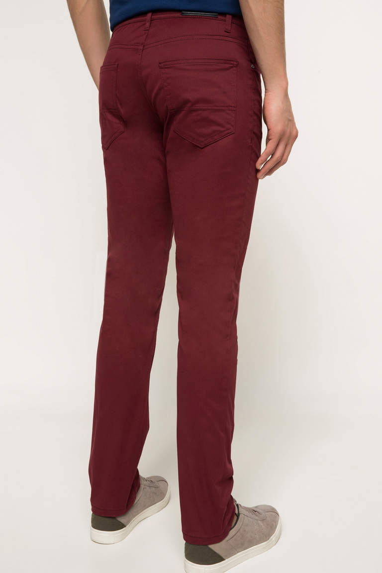 DeFacto Bordo Erkek Bruno Slim Fit Pantolon 3