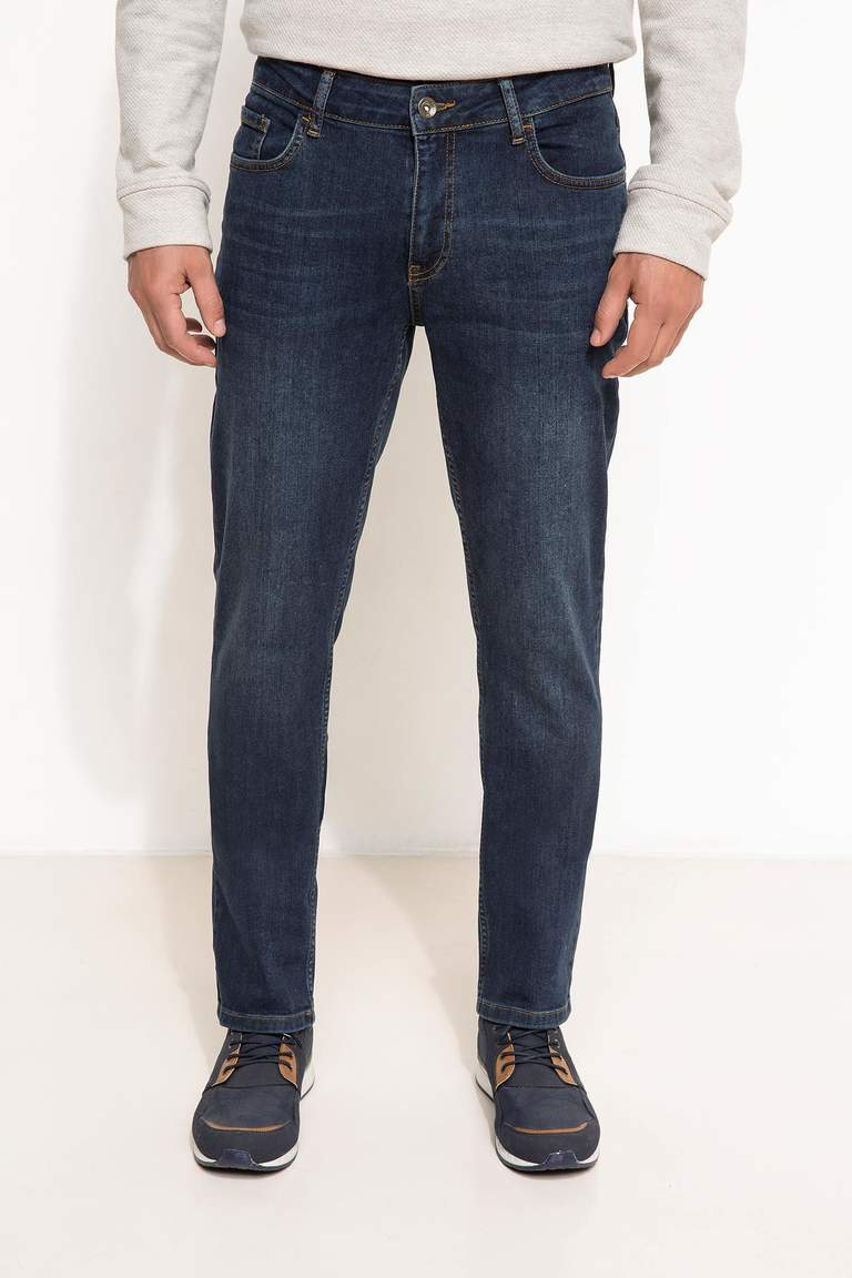 DeFacto Mavi Erkek Sergio Regular Fit Denim Pantolon 2