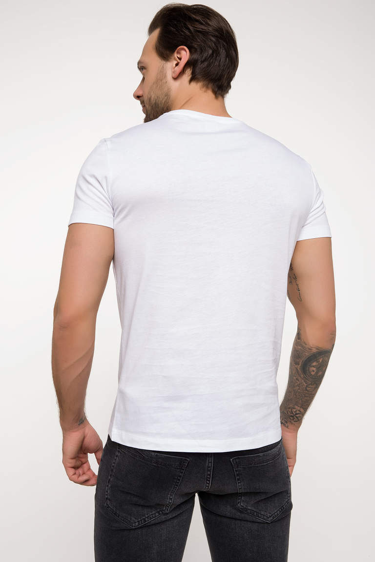 NYC Baskılı Slim Fit T-shirt