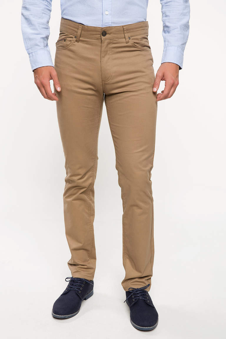 DeFacto Bej Bruno Slim Fit Chino Pantolon 1