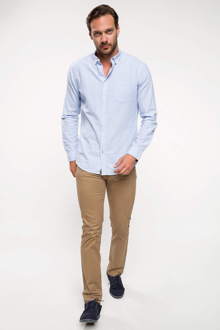 DeFacto Bej Bruno Slim Fit Chino Pantolon 2