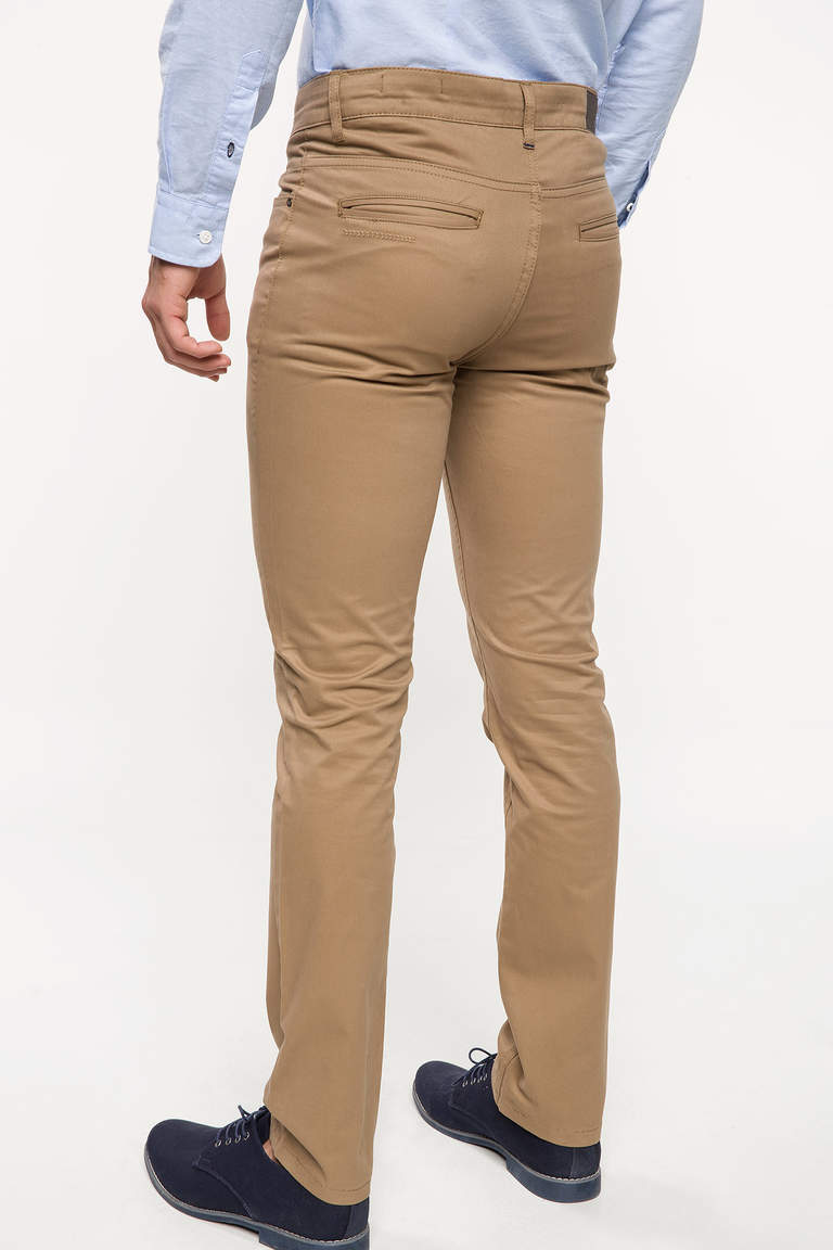 DeFacto Bej Bruno Slim Fit Chino Pantolon 3