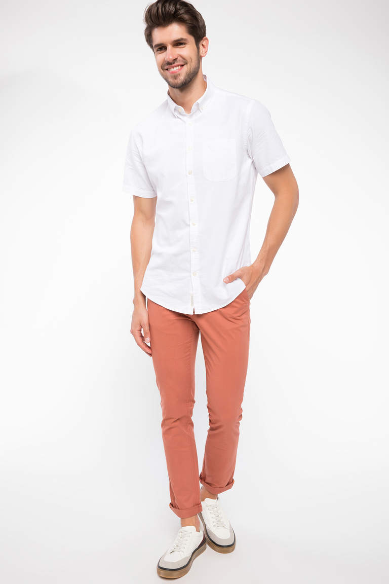 Bruno Casual Slim Fit Chino Pantolon