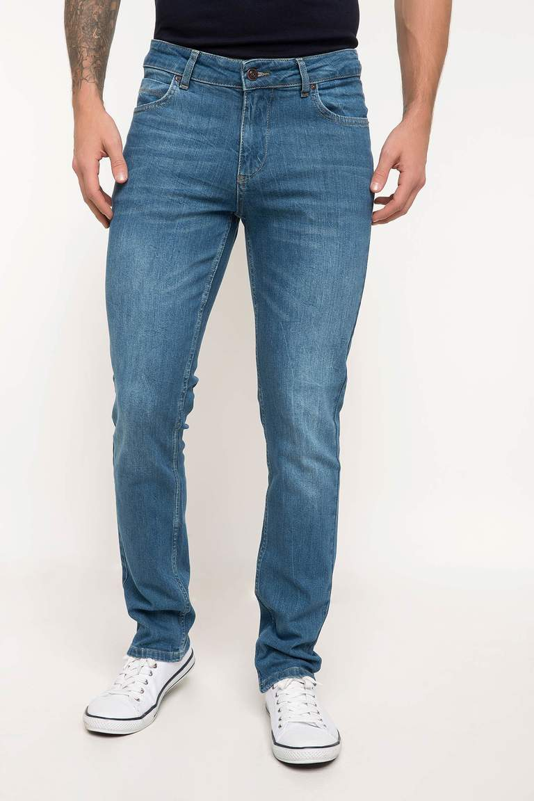 DeFacto Karma 3 Erkek Bruno Slim Fit Denim Pantolon 2