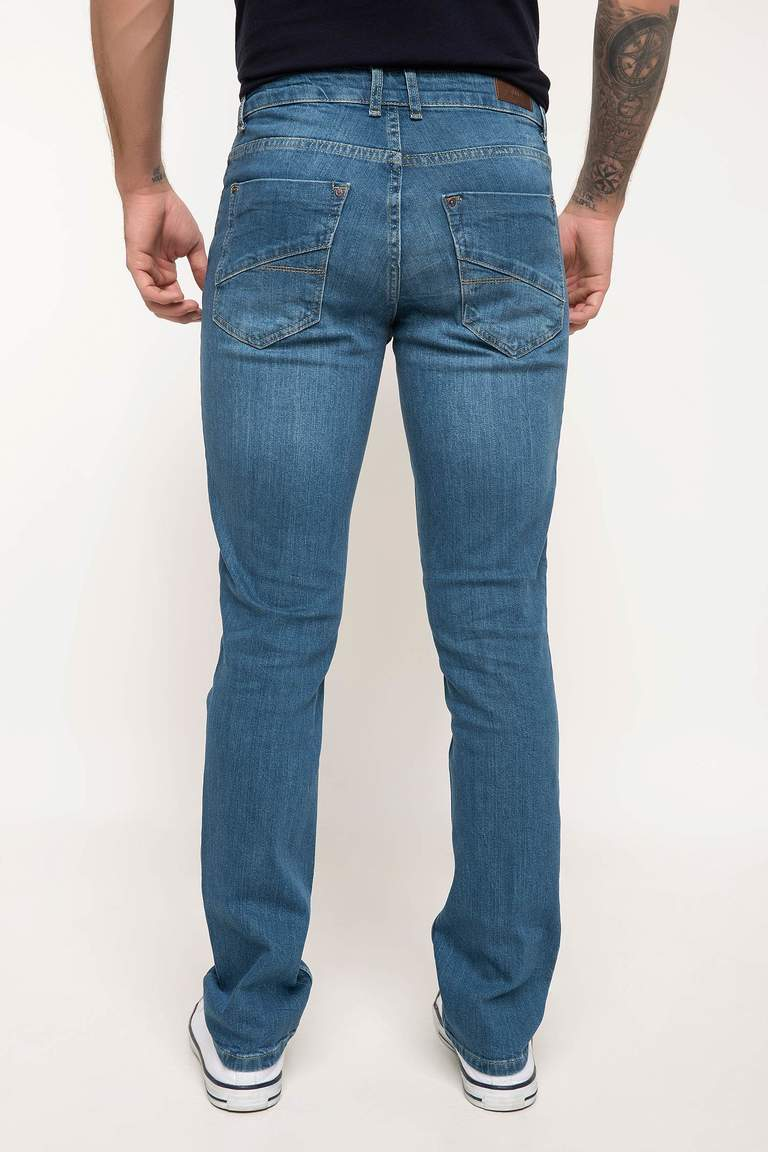 DeFacto Karma 3 Erkek Bruno Slim Fit Denim Pantolon 3